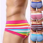 Men's Cotton Striped Triangle Sexy Underwear Upscale Sportsman's Love