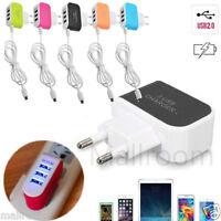 NEU 3Fach Multi USB Ladegerät Netzteil Wand Adapter Universal w/ kable für Handy