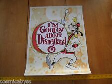 I'm Goofy About Disneyalnd 1980's poster bass drum parade 16x20""