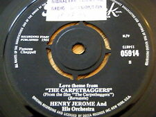 "HENRY JEROME & HIS ORCHESTRA - THE CARPETBAGGERS  7"" VINYL"