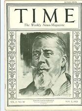 MAGAZINE TIME  GIULIO  GATTI CASAZZA  NOVEMBER  5   1923
