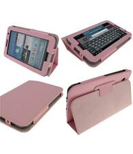 """Samsung Galaxy Tab 2 10"""" Baby Pink PU Leather Flip Stand quality Tablet Case"""