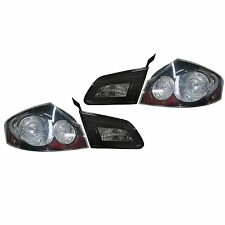 New Black Bezel Tail Light PAIR FOR 2007 2008 INFINITI G35