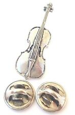 Cello Handcrafted in Solid Pewter In UK Lapel Pin Badge