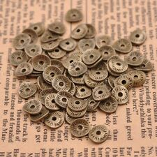 Tibetan Silver/Gold/Bronze Wavy Round Charm Spacer Beads for Bracelet SH3038