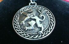 Lion Rampant Handmade Pewter Pendant Necklace! Celtic Scotland Scottish Irish