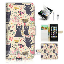 iPhone 5 5S Flip Wallet Case Cover! P1887 Kitten Cat