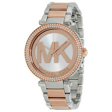 Michael Kors Parker Rose Gold and Silver-tone Ladies Watch