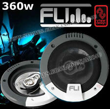 "FLI Integrator 5 5.25"" inch 180w 3-Way Car Door Dash Shelf Coaxial Speakers Pair"