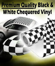 1520mm x 200mm Chequered Check Vinyl - Car Roof Wrap Stripes Tape Mirror Covers
