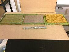 wargame terrain/scenery field set 15 mm plus