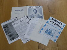 MICHEL FUGAIN - LOT DE 4  BIOGRAPHIES !!! RARE BIOGRAPHIE PROMO