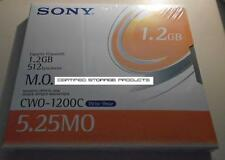NEW 1/PK Sony CWO-1200C 1.2GB Write Once 5.25 MO Optical Disk WORM CWO1200C