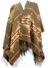 TAOS SOUTHWEST SHAWL FRINGE NATIVE AMERICAN BLANKET PATTERN REVERSIBLE TRESKA