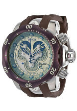 New Mens Invicta 14461 Venom Reserve Chronograph Pale Green Dial Brown Watch