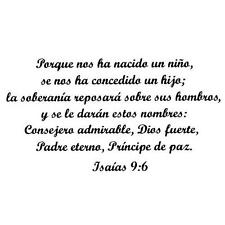 Isaiah 9:6 in Spanish UNMOUNTED rubber stamp Christian Christmas bible verse #21