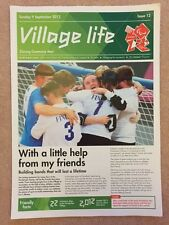 LONDON 2012 GENUINE VILLAGE LIFE NEWSPAPER ISSUE 12 PARALYMPIC GAMES 9SEP *RARE*