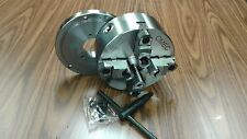 """8"""" 4-Jaw Self-Centering  Lathe Chuck top&bottom jaws w. D1-4 adapter plate-new"""