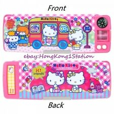 Hello Kitty Cat Multi Functional 2Sided Holder Pencil Case Box Sharpener Compass