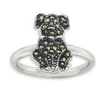 Sterling Silver Marcasite Dog Ring Size 10 #7004
