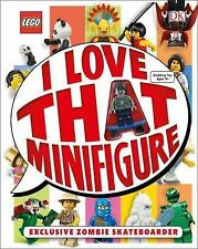 DK Lego I Love That Minifigure Book - 2015 New w/ Exclusive Zombie Skateboarder