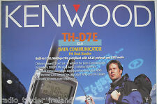 KENWOOD TH-D7E (GENUINE BROCHURE ONLY)............RADIO_TRADER_IRELAND.
