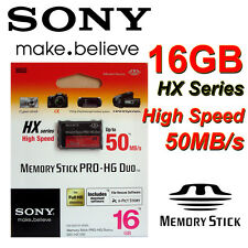 Genuine SONY 16GB Memory Stick PRO-HG Duo HX 50MB/S for Sony PSP Camera RETAIL