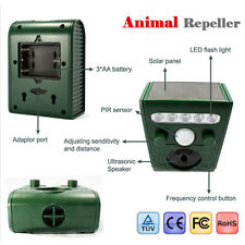 Ultrasonic Solar Power Pest Animal Repeller Yard Garden OutDoor Cat Dog Bird