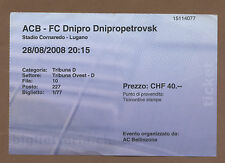 Orig.Ticket  Europa League  08/09   AC BELLINZONA - DNIPRO DNIPROPETROVSK  !!