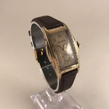 Antique Gents 1920s Art Deco Bulova 15jewel Gold Plated Wrist Watch