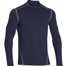 Under Armour Mens Mock Top XL Compression ColdGear Navy Blue NEW 1265648