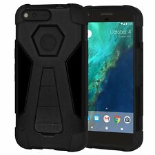 """AMZER Dual Layer Hybrid Rugged Kickstand Case Cover For Google Pixel 5"""" - Black"""
