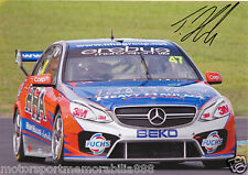 TIM SLADE ORIGINAL SIGNED 8x12 PHOTO PRINT V8 Supercars MERCEDES EREBUS SBR