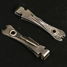 2 Pieces Stainless Steel Fly Fishing Nipper With Knot Tying Tool Silver