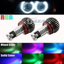 RGB Multi-Color Error Free CREE BMW E92 H8 LED Angel Eyes Halo Ring Light Bulbs