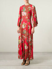 131832 New Etoile Isabel Marant Floral Printed Wanda Red Cotton Maxi Dress S