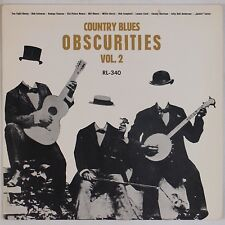 COUNTRY BLUES OBSCURITIES: Vol 2 RL-340 Rare VINYL LP VG++ Super