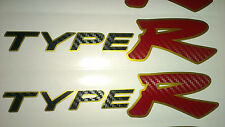Honda Civic Type R Side Skirt stickers Gold background with Black + Red Carbon