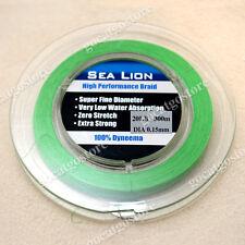 NEW Sea Lion 100% Dyneema Spectra Braid Fishing Line 300M 20lb Green