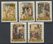 Fujeira 1970 Mi.577/81 A fine used c.t.o. Gemälde Paintings Giotto Fra Angelico