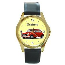 MORRIS MINI CLASSIC CAR PERSONALISED WRISTWATCH **CHOOSE ANY NAME***