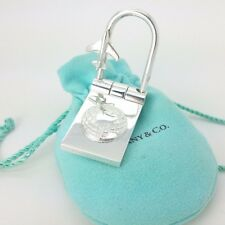 Super Rare Tiffany & Co Sterling Silver World Globe Airplane Fold Key Ring Chain