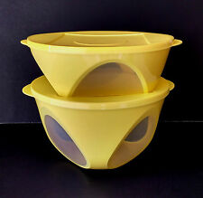 Tupperware New 2 pc Outdoor Dining Serving Storage Bowl Set in Yellow