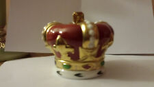 Royal Crown Derby GIUBILEO D'ORO ARALDICA CORONA FERMACARTE LIMITED EDITION