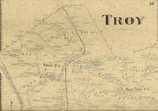 Troy Litchfield East Troy North Rome PA 1869 Maps with Homeowners Names Shown