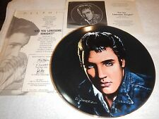 "Delphi Elvis Portriats of the King plates - ""Are you Lonesome tonight"" plate 2"