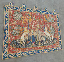 Vintage French Beautiful English Design Unicorn Scene Tapestry 113x83cm (A450)