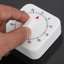 Mechanical Timer Reminder Counting for Kitchen Square 60-Minute