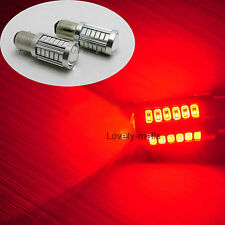 2X 20W 1157 Red SMD LED Brake Stop Tail Light Super Lens Projector Bulbs t25