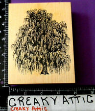 PSX WEEPING TREE WILLOW RUBBER STAMP RETIRED K-1455